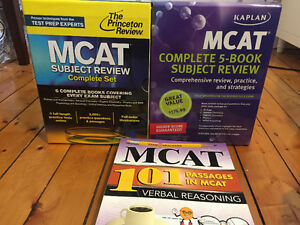 MCAT PREP BOOKS - Princeton Review, Kaplan, Exam Krackers