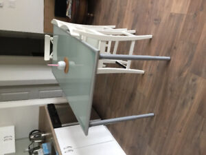 IKEA Dining Table With Ingolf Counter chairs