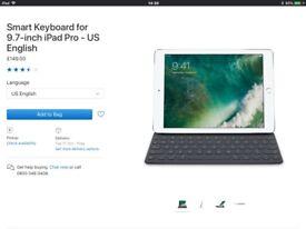 Apple ipad pro 9.7 keyboard rrp£149 like new