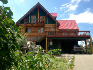 Log Home for Sale on 2 Acres within the City of Penticton