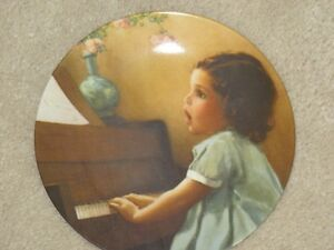"""Bessie Pease Gutmann """"Harmony"""" magical moments collector plate"""