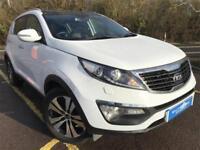 2013 Kia Sportage 3 Sat Nav 1.7 CRDI Diesel white Manual