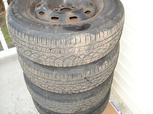 "15"" Set (4) All season tires 205X65X15"" on steel reems 5X100mm Kitchener / Waterloo Kitchener Area image 4"