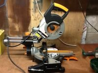 Evolution Rage 3s 1500w compound slide mitre chop saw