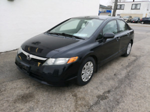 2008 honda civic 4 door. 5 speed standard CERTIFIED