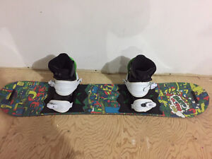 Youth Snowboard, Bindings and Boots - Excellent Condition