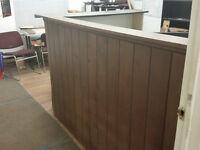 custom mahogany reception counter