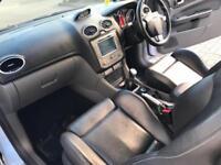 2008 58 Reg Ford Focus 2.5 ST3 WHITE + SAT NAV + LEATHER + Nice Spec