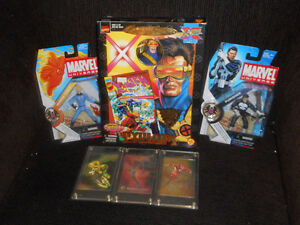 vintage marvel toys and collector hollofoil cards