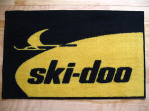 """Door mats (carpets) 19"""" X 29"""" with Vintage snowmobile logo"""