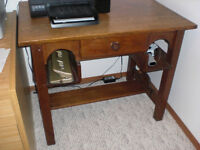 Antique Oak Student Desk