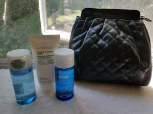 Marcelle makeup bag and products