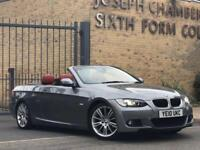 2010/10 BMW 320i AUTOMATIC CONVERTIBLE M SPORT RED LEATHER HPI CLEAR