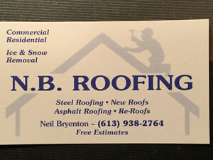 NB Roofing & Contracting Inc.: Free Estimates Cornwall Ontario image 1