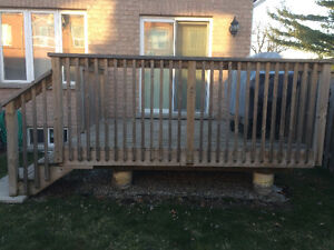 Wood Deck Approx. 9' by 9'
