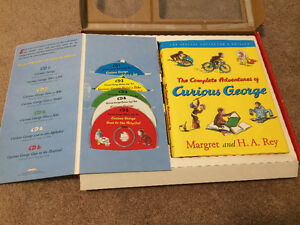 Curious George book and audio CD gift set