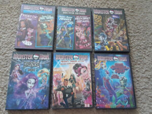 Collection of Monster High DVDs
