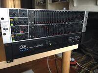 QSC RMX 1450 pro power amplifier & behringer 6200 FBQ pro graphic equaliser