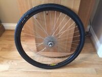 26 x 1.5 spare MTB wheel and tyre *Almost brand new*