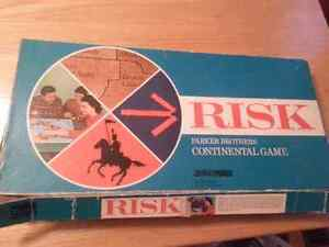 Vintage Risk Board Game - Wooden Pieces