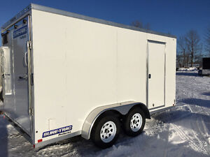 7x14 Enclosed Galvanized Trailer Made by Sure Trac Kitchener / Waterloo Kitchener Area image 2