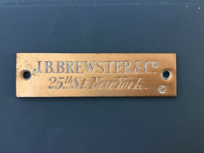 Brewster Coachwork Plate
