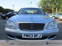MERCEDES S CLASS S320 CDI, Blue, Auto, Diesel, 2003 2 OWNERS FROM NEW HISTORY