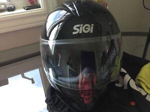 Gently used SIGI motorcycle helmet
