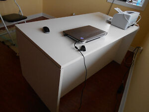 Office or Student  Desk, White, 2 drawers
