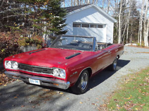 ( FEELER AD  1968 Plymouth Satellite Sport Convertible )