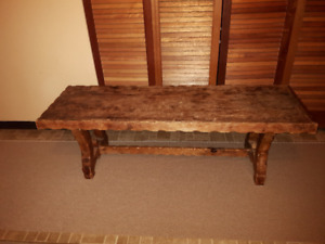 "Old Vintage Wooden Bench (L 49"" x W 15.5"" x H 15.5"")"