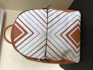 Brown Chevron Backpack