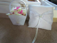 Flowergirl basket and ring bearer pillow