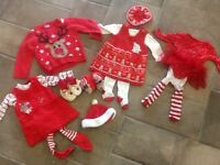 Girls CHRISTMAS clothing bundle