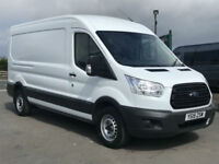 FORD TRANSIT T350 2.2TDCI 125BHP MWB MEDIUM ROOF VAN IN WHITE. ONE OWNER.