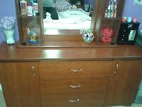Dresser with glass display