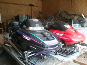 Polaris and skidoo.Both need some work.