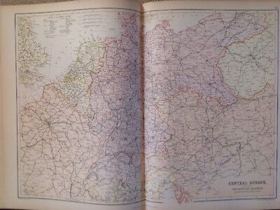 Central Europe 1882 Antique Map W.G. Blackie Atlas