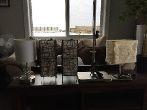 8 lamps for sale floor + table lamps