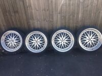 """BMW 5x120 BBS lm alloy wheels 20"""" staggered"""