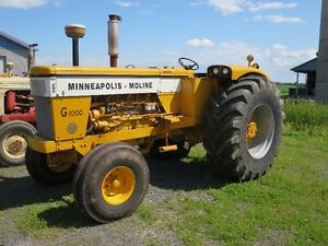 Tracteur Minneapolis Moline G1000 Wheatland Diesel