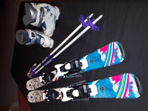 Girls downhill skis/boots/poles - $130