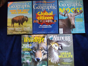 CANADIAN GEOGRAPHIC & CANADIAN WILDLIFE