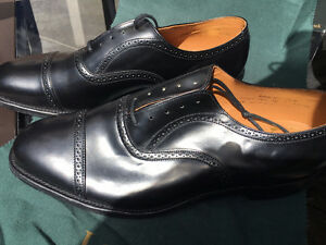 Mens Loake $500 Formal Brogue Shoes Size US 13 New in box Black