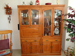 2 pc Harvest Oak Wall Unit