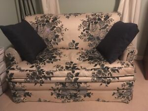 Free couch, love seat, bookshelves - on the curb today