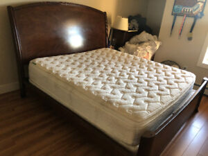 Wooden King Sleigh Bed Frame