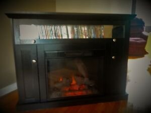 Large LED heater fireplace with mantal