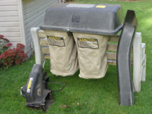 Grass catching attachment for John Deere 110 Lawn Tractor