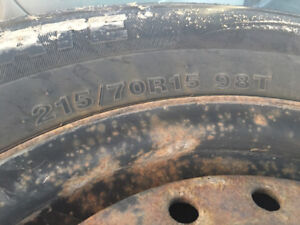 4winter tires for sale 215/70 R 15 on the rims for dodge caravan